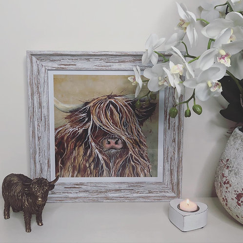 Highland Cow Framed Art Work