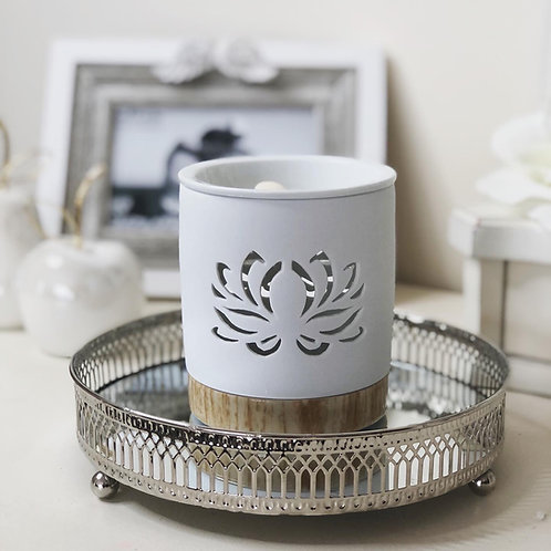 White Lotus Cut out Wax/Oil burner
