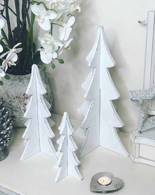 Mango Wood White Christmas Trees