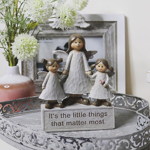 It's the little things that matter Triple Angel Ornament