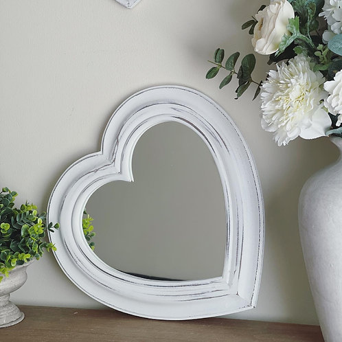 Heart Shaped Mirror 40cm