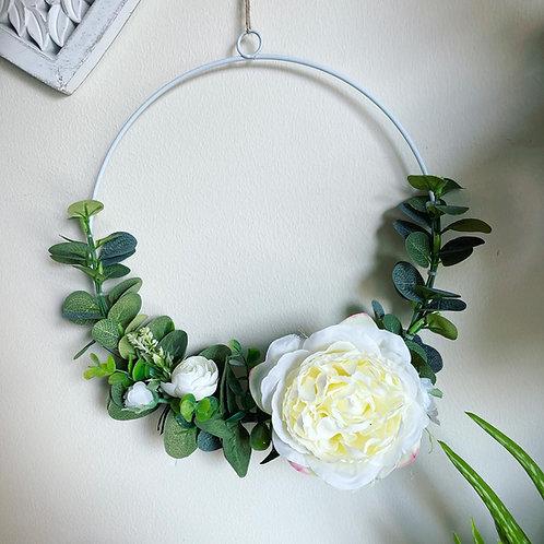 Eucalyptus & Flower Half Wreath
