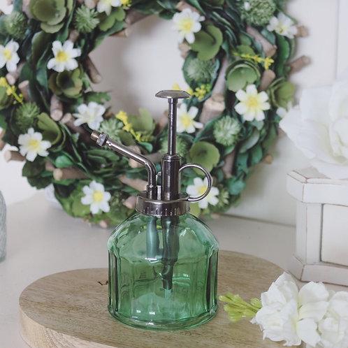 Green Glass Botanical plant Mister