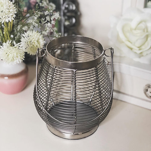 Wire Nickel Candle Lantern