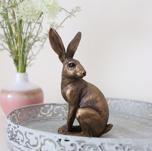Bronze Sitting Hare Ornament