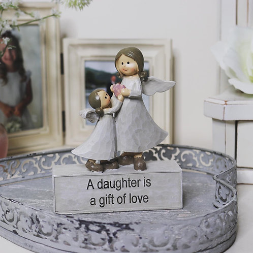 A Daughter is a gift of Love Angel Ornament