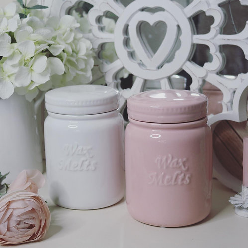 Ceramic Wax Melts Storage Jar