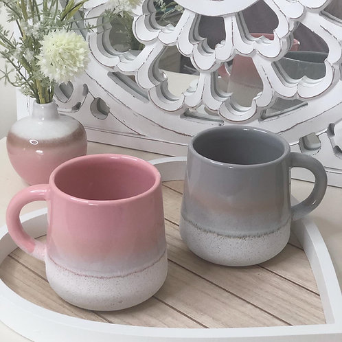 Mojave Glazed Pink or Grey Ombre Mug