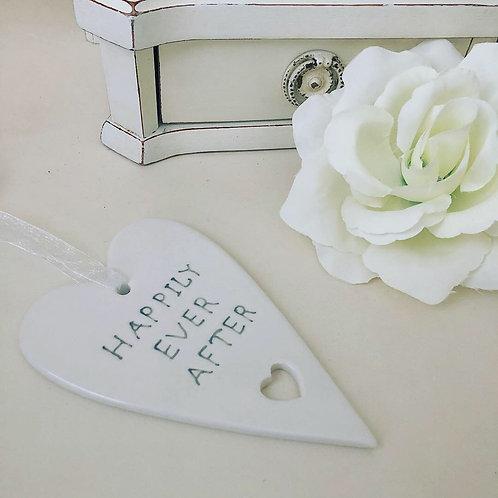 Hanging Ceramic Heart Quotes