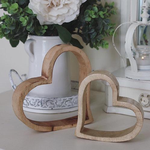 Mango Wood Sleepy Hearts…Set of 2