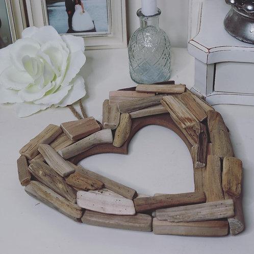 Driftwood Open Hanging Heart Decoration