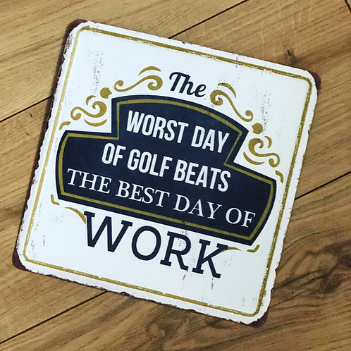 Retro Metal Golf Sign