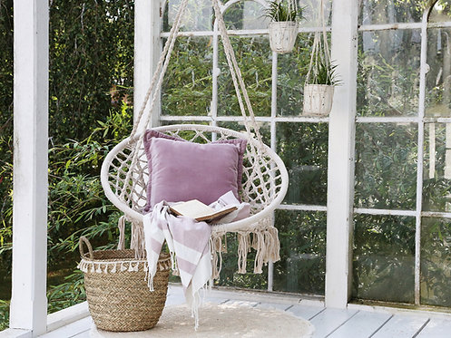 Boho Cream Swinging Chair