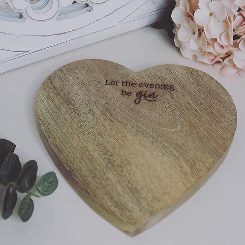 Heart Mango Wood Chopping Board