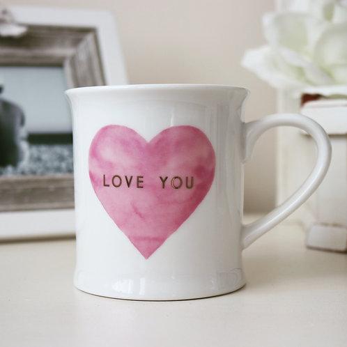 Love you Pastel pink Mug