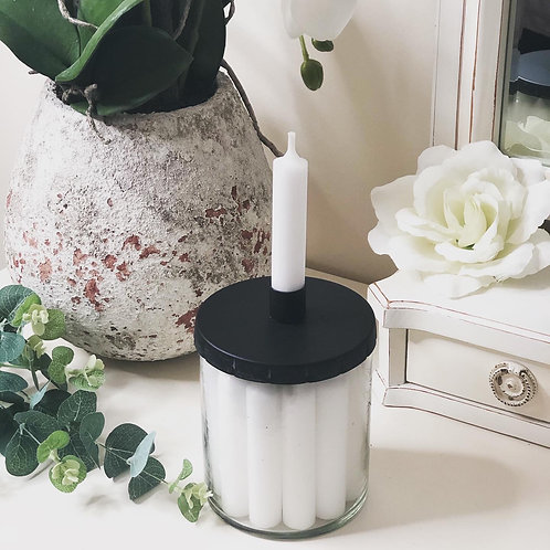 Quirky Candle Holder Glass Container