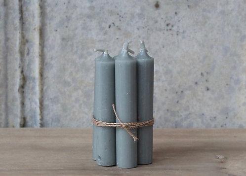 Vintage Grey Short Dinner Candle - Set 5