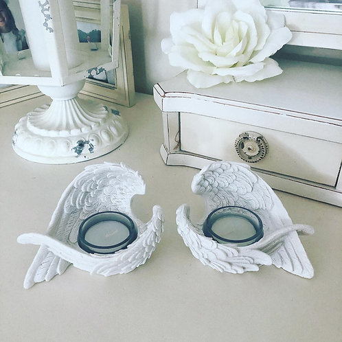 A Pair Angel wings tea light holder Candle Holders