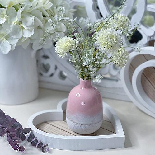 Pink Bohemian Mojave Ombre Glaze Vase