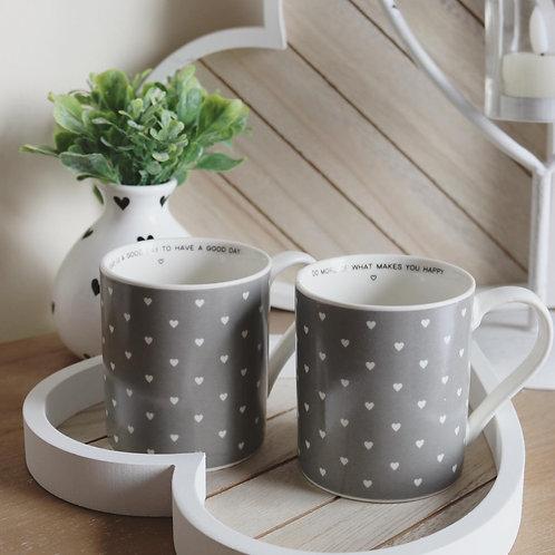 Ceramic Heart Mug With Message Inside