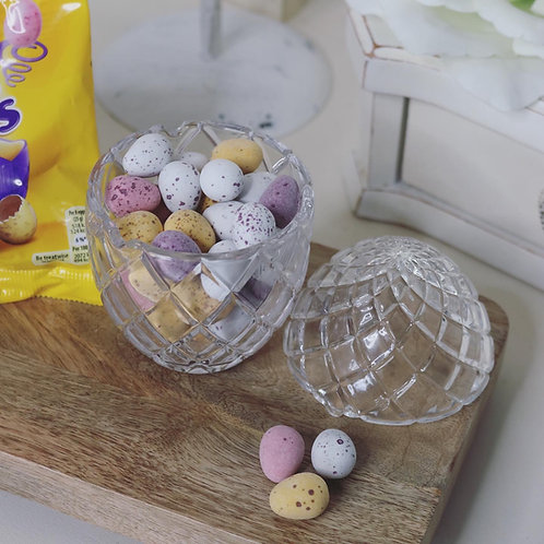 Vintage Style Glass Egg