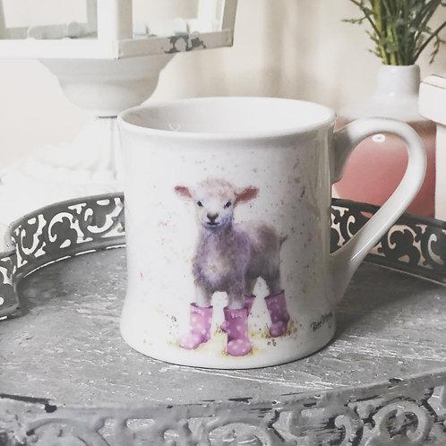 Bree Merryn Lottie Lamb in Wellies Mug