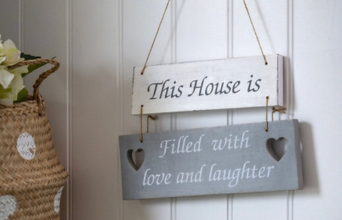 Wooden Double Hanging Sign