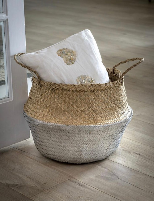 Handmade Silver Dip Seagrass Basket