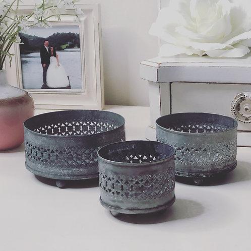 Set of 3 Mini Candle Trays