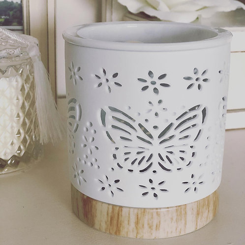 Butterfly White Cut Out Wax Melt Burner