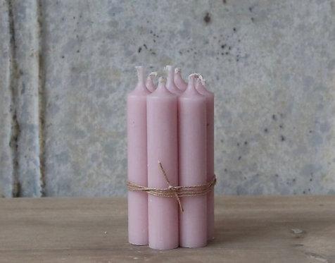 Vintage Pink Short Dinner Candle - Set 5