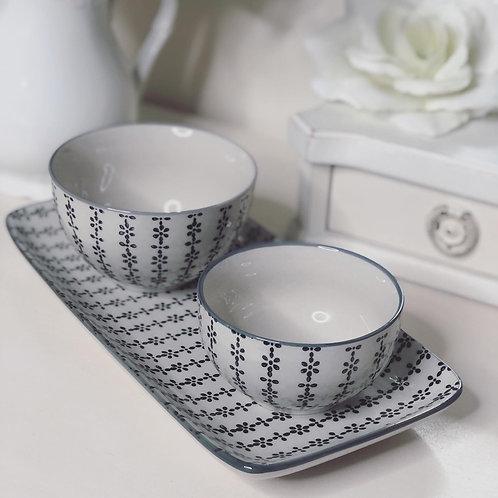 Set of 3 Unica Tapas bowls & Plate