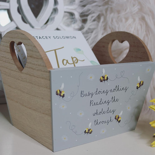 Pretty Busy Bee Reading Crate