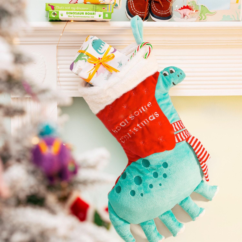Dinosaur Christmas.Roarsome Dinosaur Christmas Stocking Sjelite Interiors