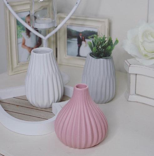Pastel Vases…Set of 3