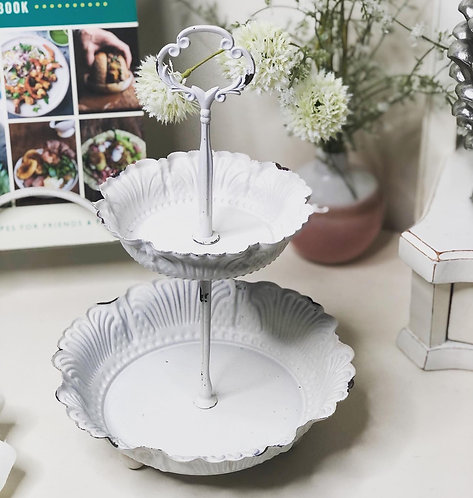 Shabby Chic 2 Tier Stand