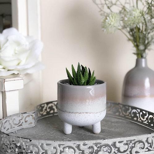Bohemian Mojave Glaze Grey Planter