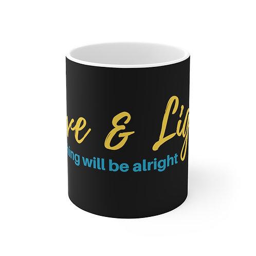 Black and White Love and Light 11oz Mug