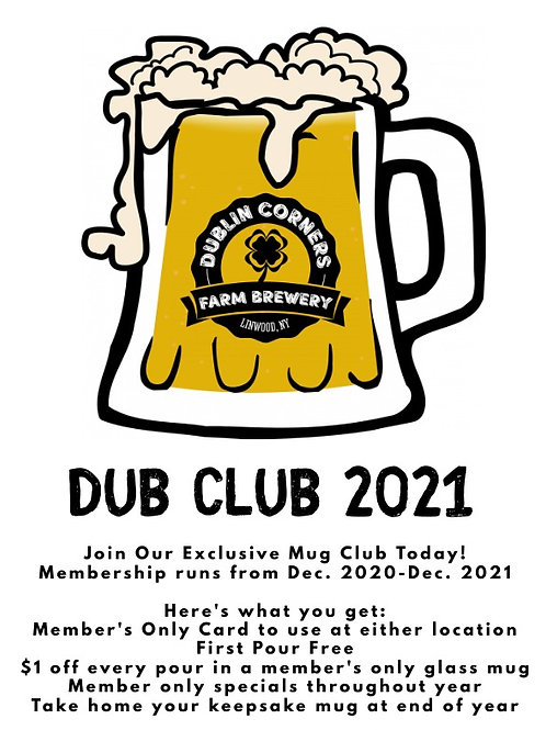 Dub Club 2021 Membership