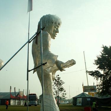 Jimi Hendrix statue  IOW Festival 2007