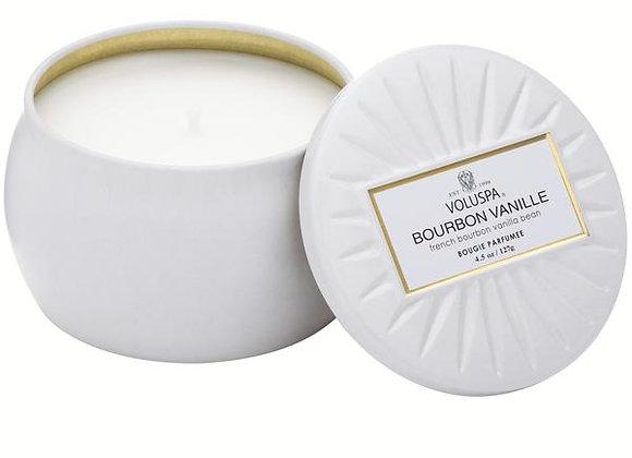 Bourbon Vanille Petite Tin Candle