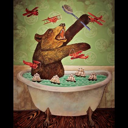 Bathtub Bear Card