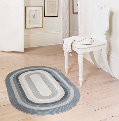 Painted Stripe Charcoal Rug