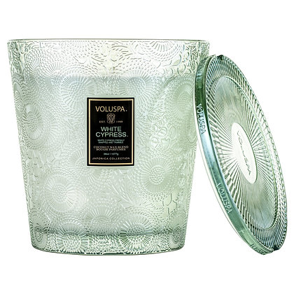 White Cypress 3- Wick Hearth Candle