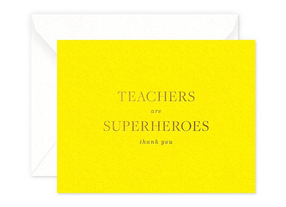 Teachers Are Superheros Card