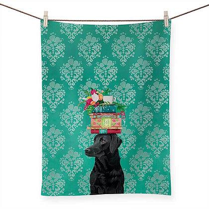 A Woman's Best Friend Tea Towel