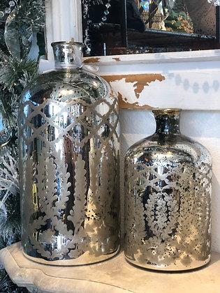Set of 2 Large Mercury Bottles