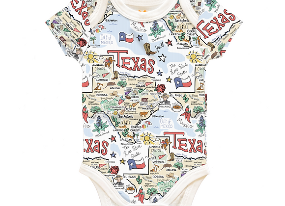 Texas Map Baby One-Piece