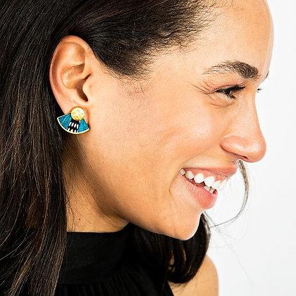 Leslie Feather Stud Earrings