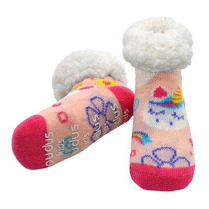 Pink Unicorns- Kids Classic Slipper Socks